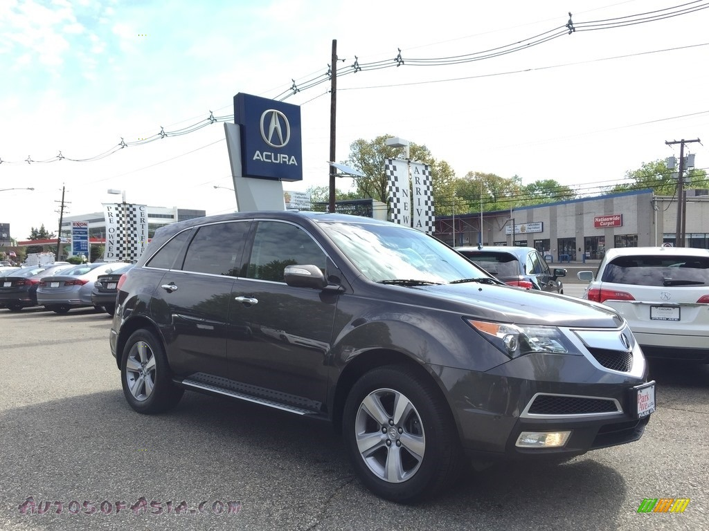 2012 MDX SH-AWD - Polished Metal Metallic / Ebony photo #1
