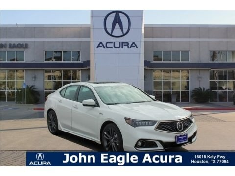 Platinum White Pearl 2019 Acura TLX V6 A-Spec Sedan