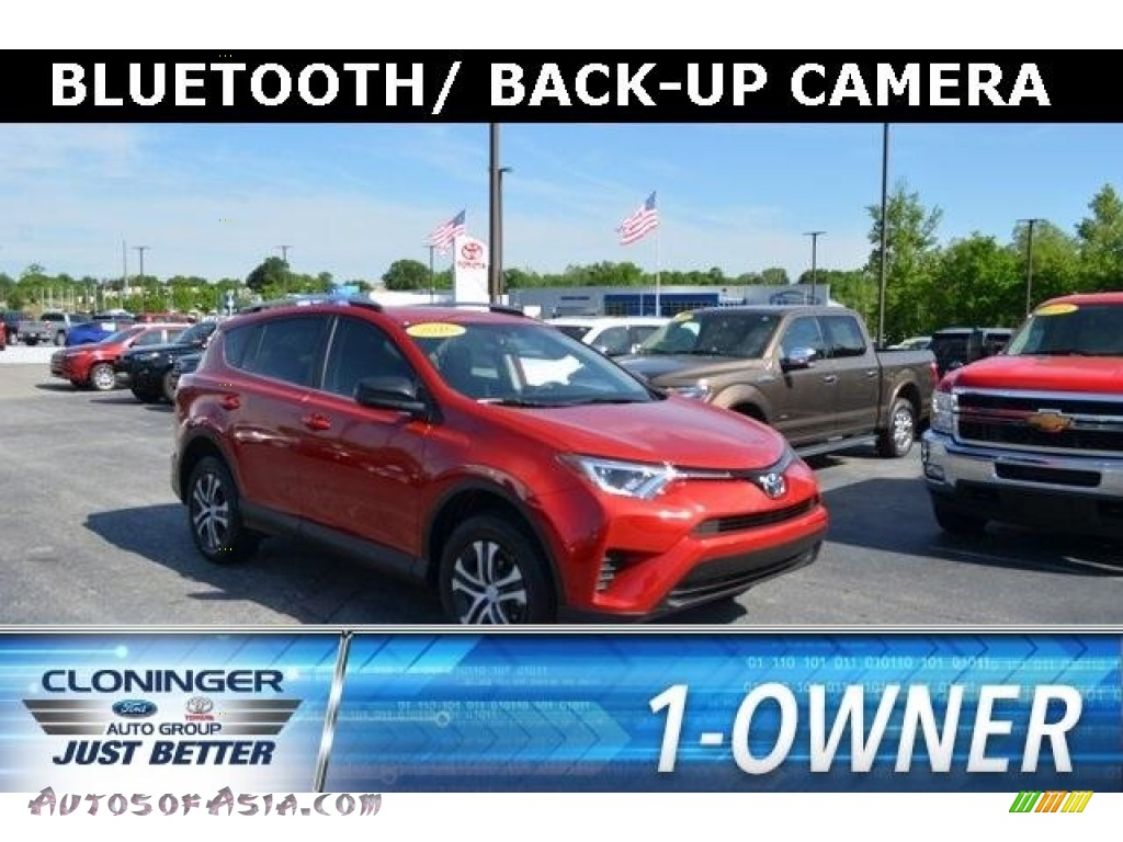 2016 RAV4 LE - Barcelona Red Metallic / Black photo #1