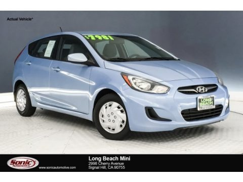 Clearwater Blue 2012 Hyundai Accent GS 5 Door