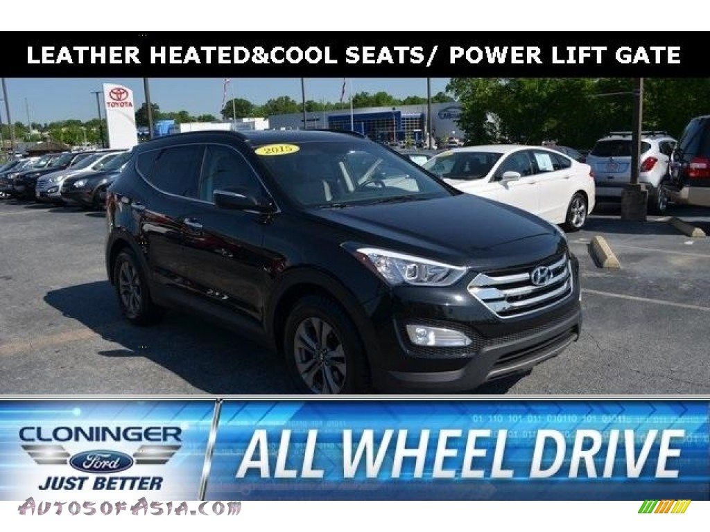 2015 Santa Fe Sport 2.4 AWD - Twilight Black / Gray photo #1