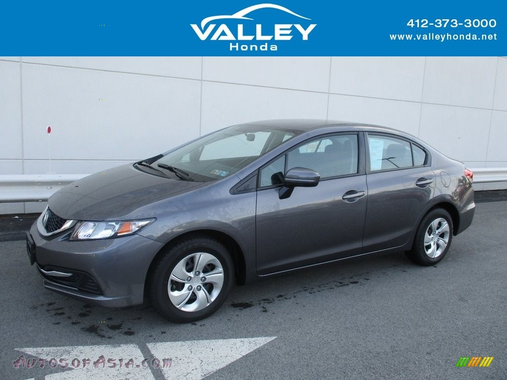 2015 Civic LX Sedan - Modern Steel Metallic / Black photo #1