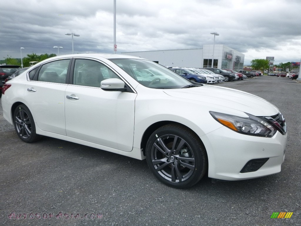 2018 Altima 3.5 SL - Pearl White / Beige photo #1