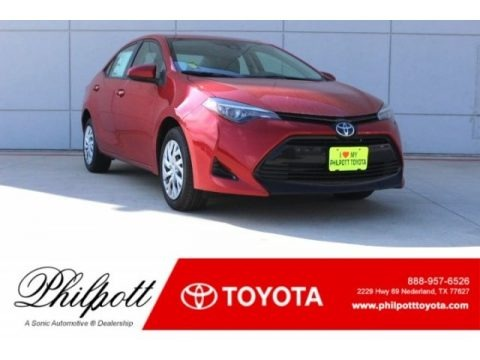 Barcelona Red Metallic 2018 Toyota Corolla LE