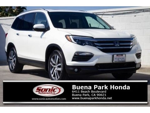 White Diamond Pearl 2016 Honda Pilot Elite AWD