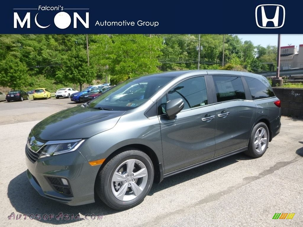 2019 Odyssey EX - Forest Mist Metallic / Beige photo #1