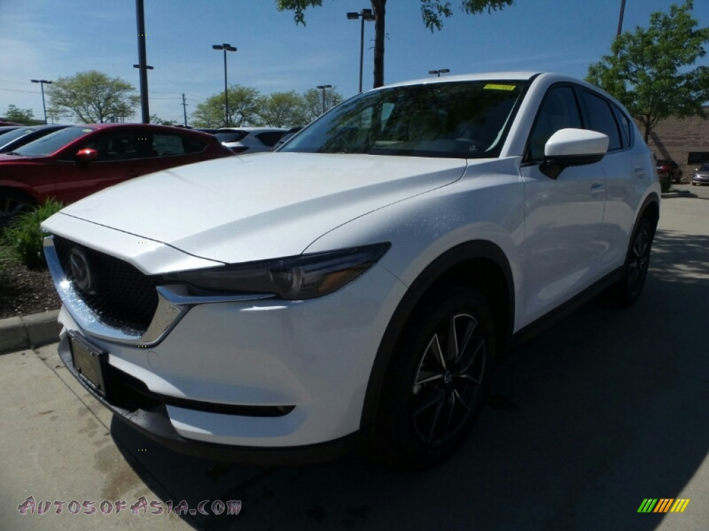 2018 CX-5 Grand Touring AWD - Snowflake White Pearl Mica / Parchment photo #1