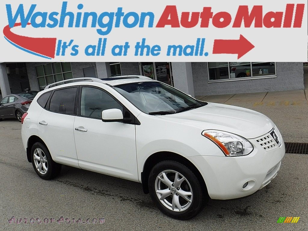 2010 Rogue SL AWD - Phantom White / Black photo #1