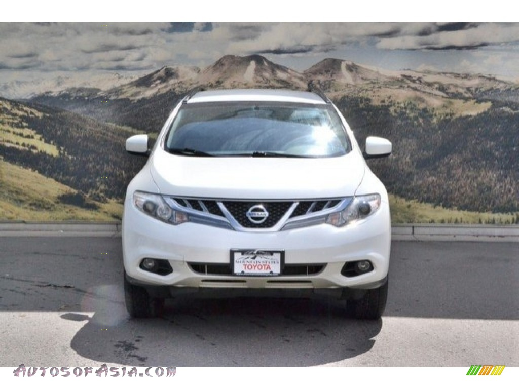 2013 Murano SV AWD - Pearl White / Beige photo #4