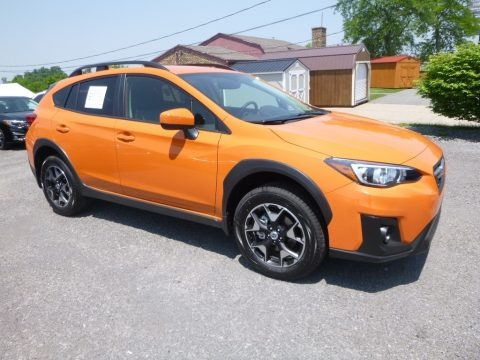 Sunshine Orange 2018 Subaru Crosstrek 2.0i Premium