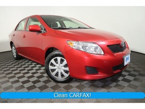 Barcelona Red Metallic 2010 Toyota Corolla LE