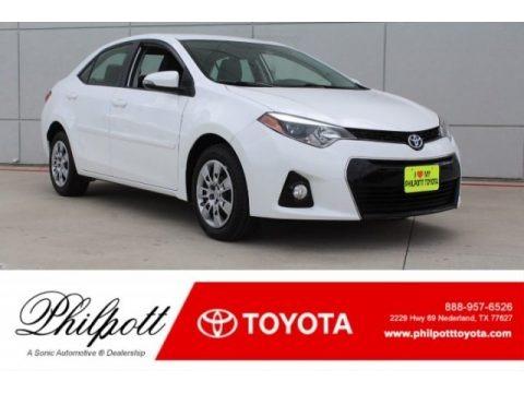 Super White 2016 Toyota Corolla S Plus