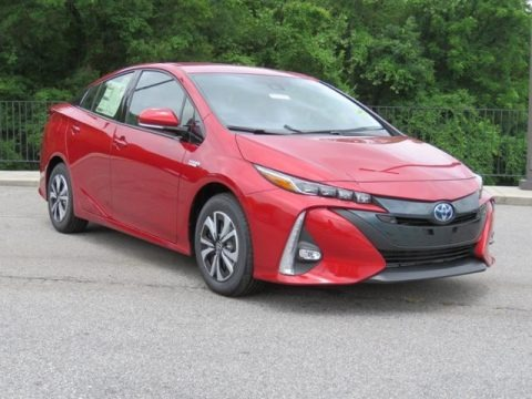 Hypersonic Red 2018 Toyota Prius Prime Advanced