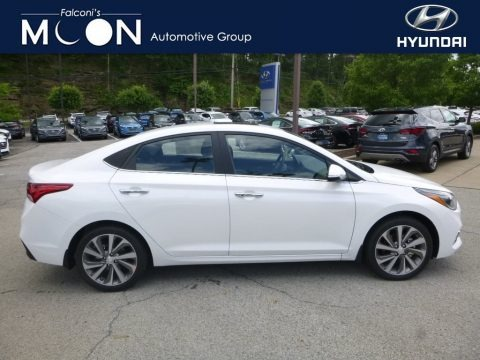 Frost White Pearl 2018 Hyundai Accent Limited
