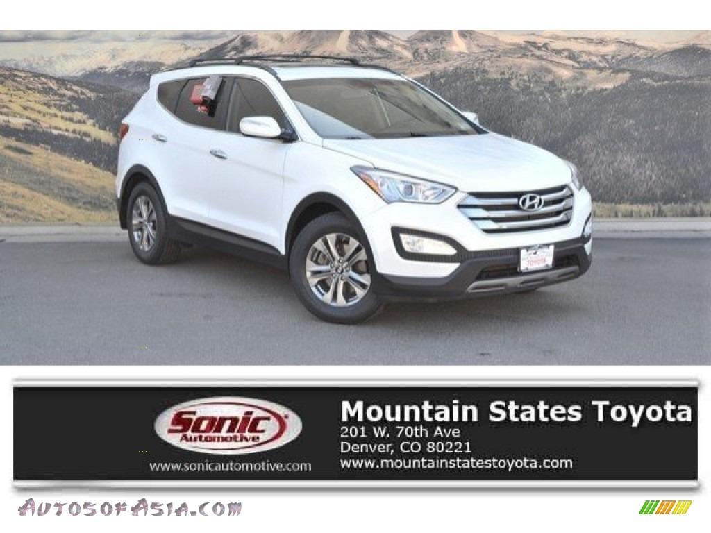 2015 Santa Fe Sport 2.4 AWD - Frost White Pearl / Gray photo #1