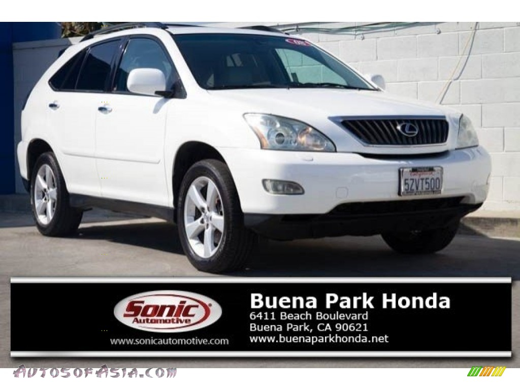 2008 RX 350 - Crystal White / Light Gray photo #1