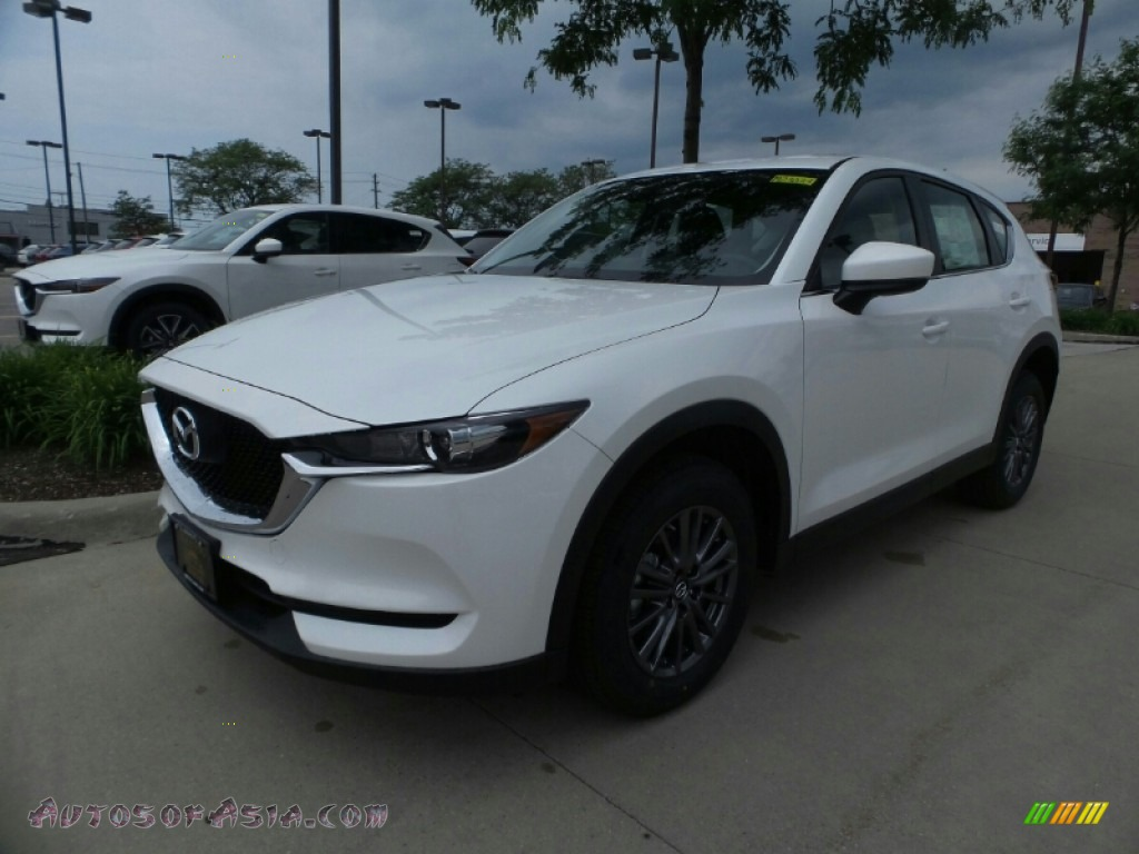 2018 CX-5 Sport AWD - Snowflake White Pearl Mica / Black photo #1