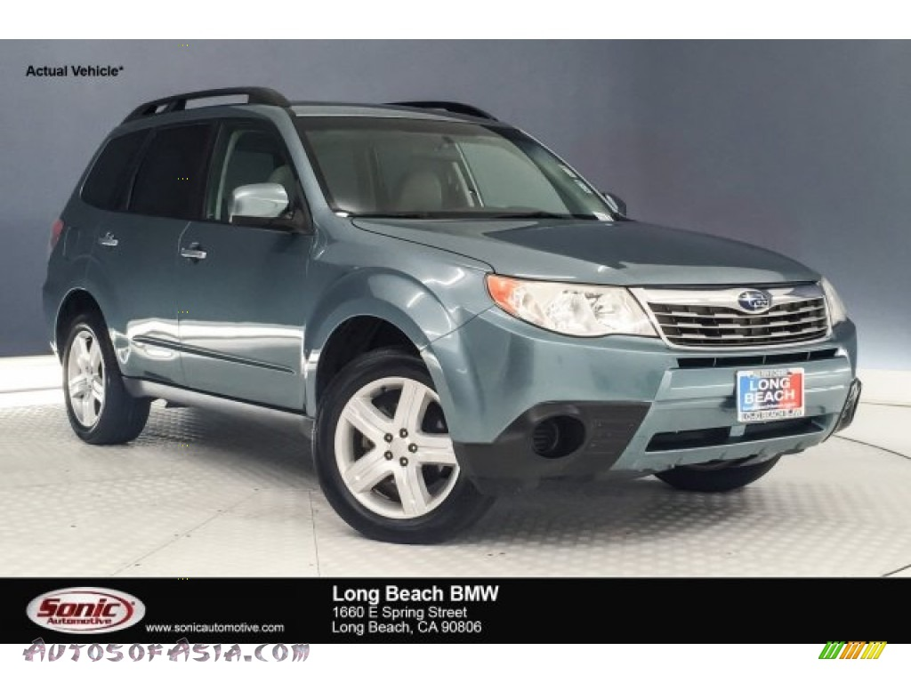 2009 Forester 2.5 X Premium - Sage Green Metallic / Platinum photo #1