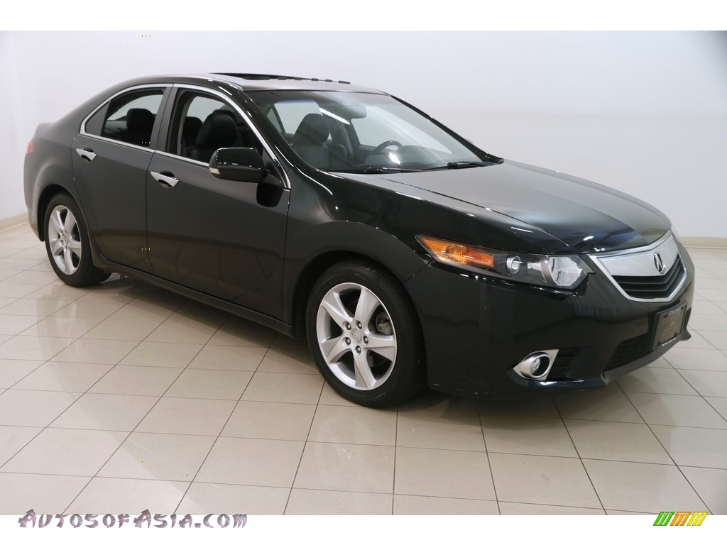 2012 TSX Technology Sedan - Crystal Black Pearl / Ebony photo #1
