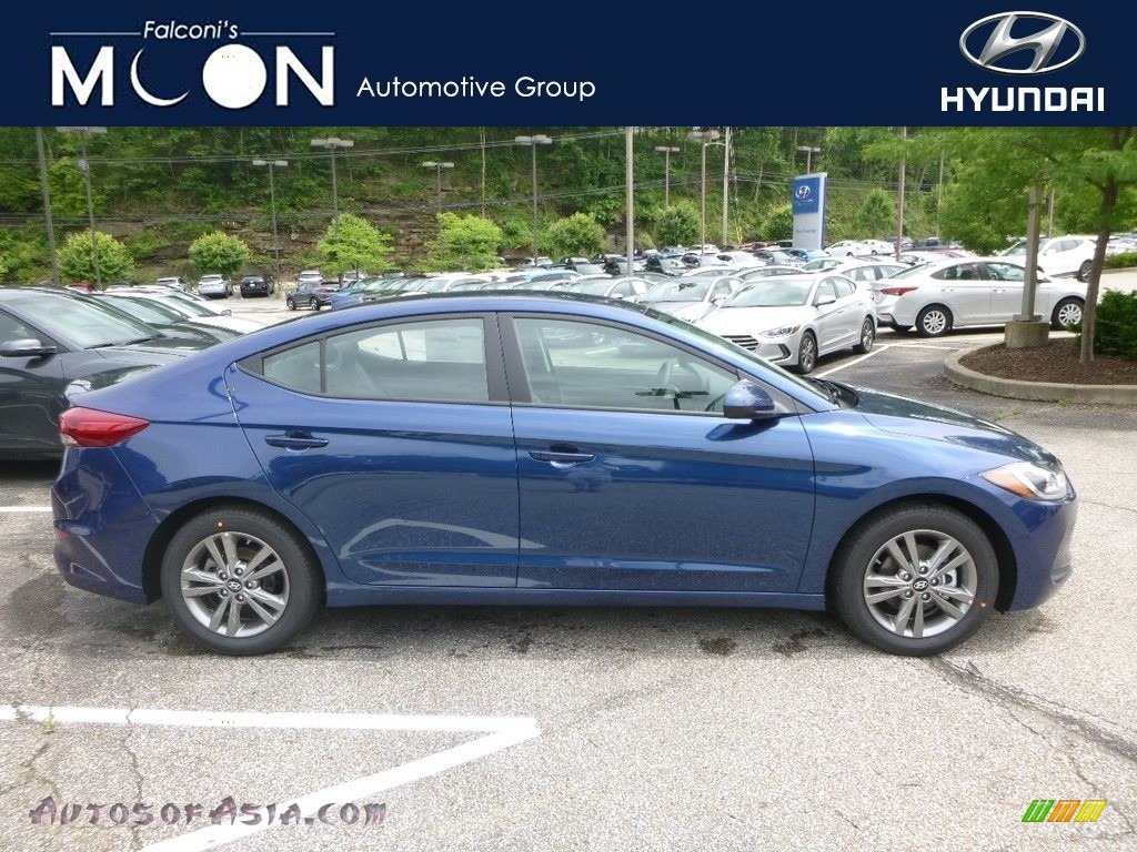 Electric Blue / Gray Hyundai Elantra SEL