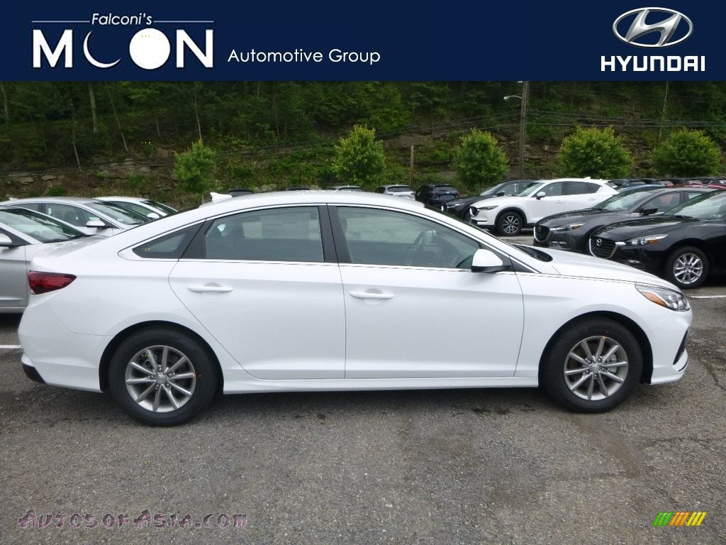 2018 Sonata SE - Quartz White Pearl / Black photo #1
