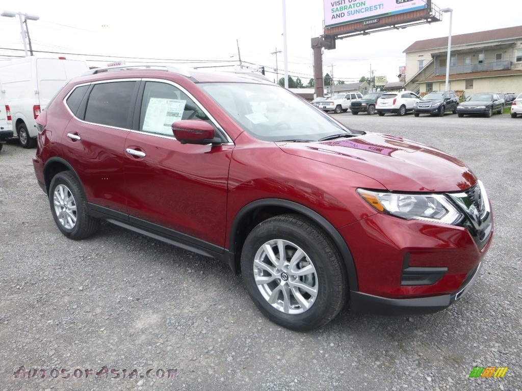Scarlet Ember / Charcoal Nissan Rogue SV AWD