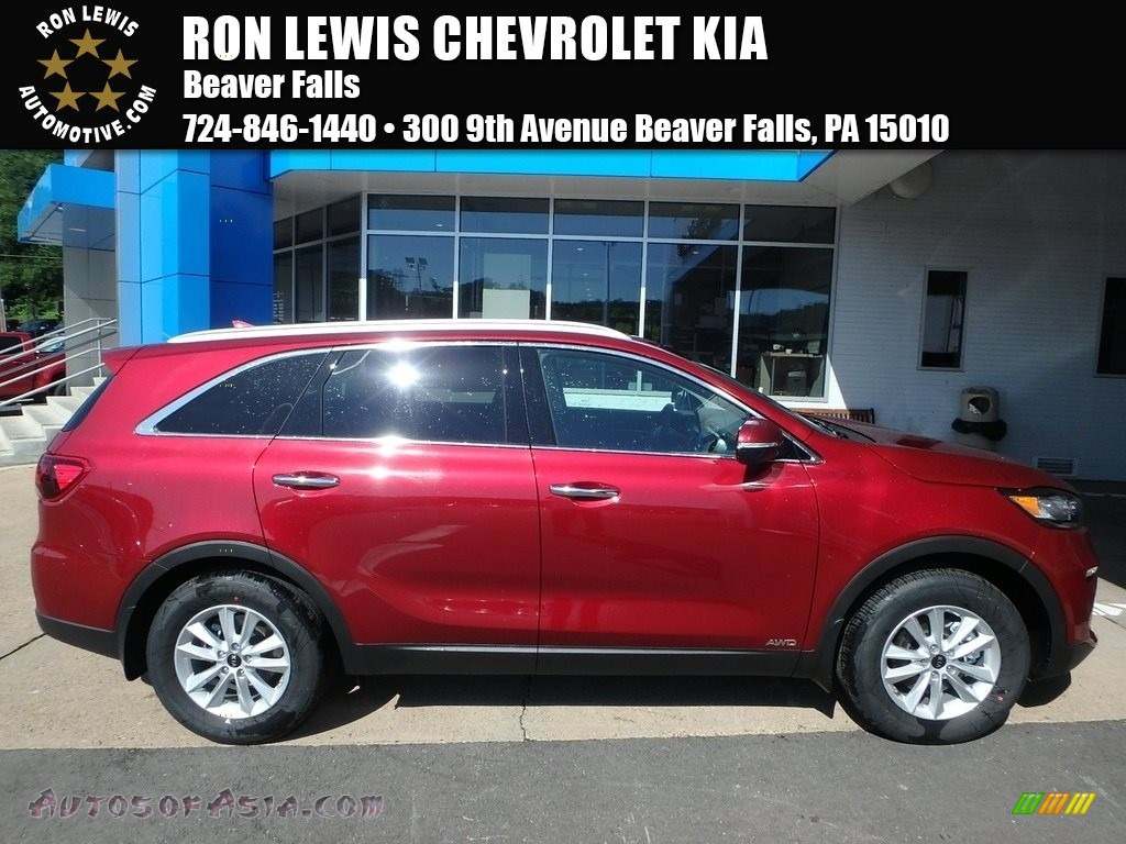2019 Sorento LX AWD - Passion Red / Satin Black photo #1