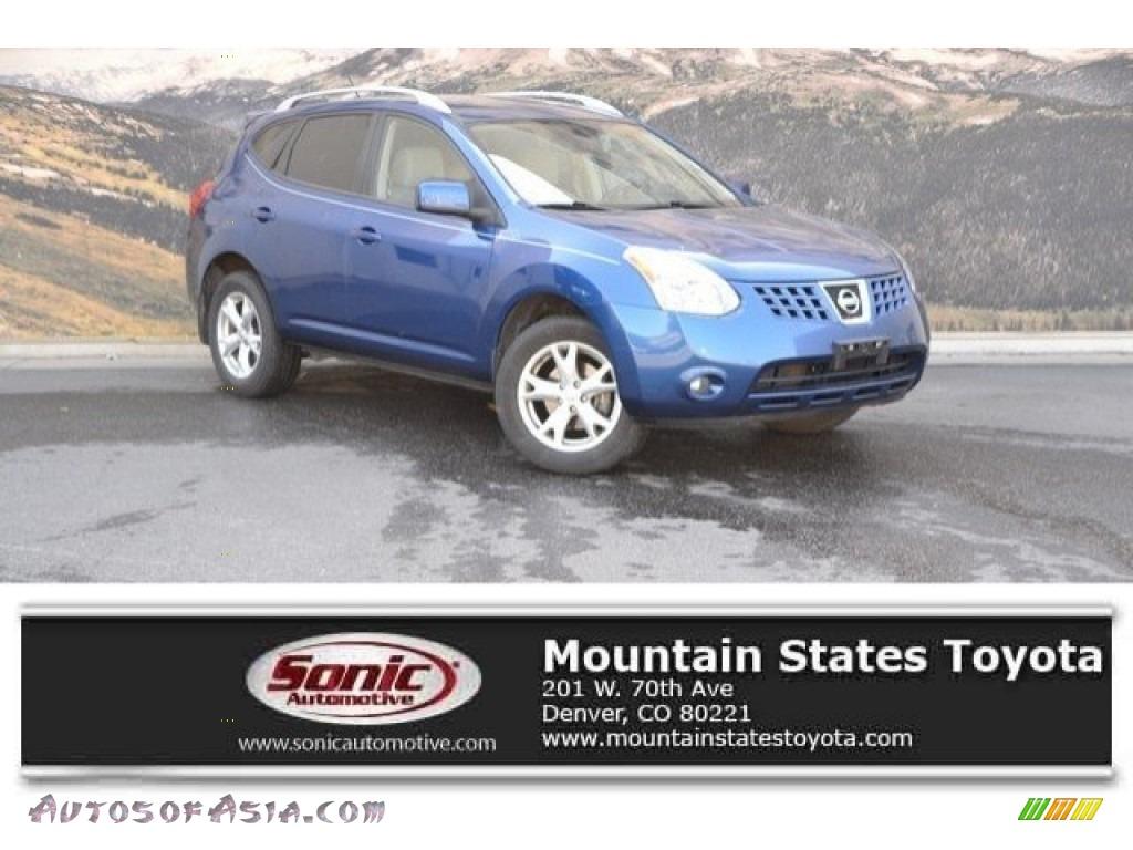 2008 Rogue SL AWD - Indigo Blue Metallic / Gray photo #1