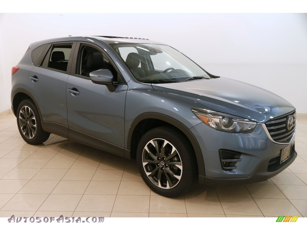 2016 CX-5 Grand Touring AWD - Blue Reflex Mica / Black photo #1