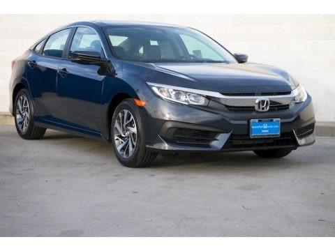Cosmic Blue Metallic 2018 Honda Civic EX Sedan