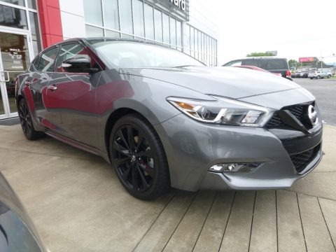 Gun Metallic 2018 Nissan Maxima SR Midnight Edition