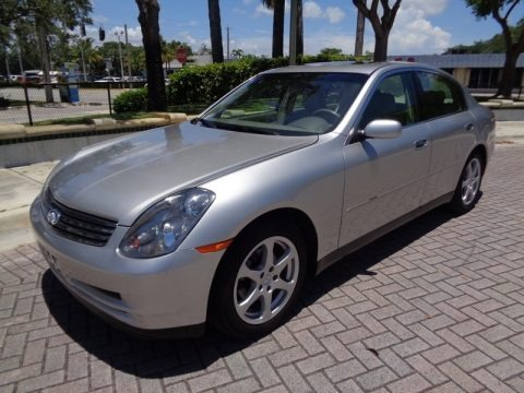 Brilliant Silver Metallic 2003 Infiniti G 35 Sedan