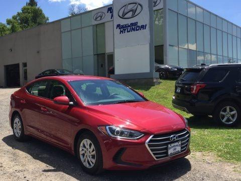 Red 2017 Hyundai Elantra SE