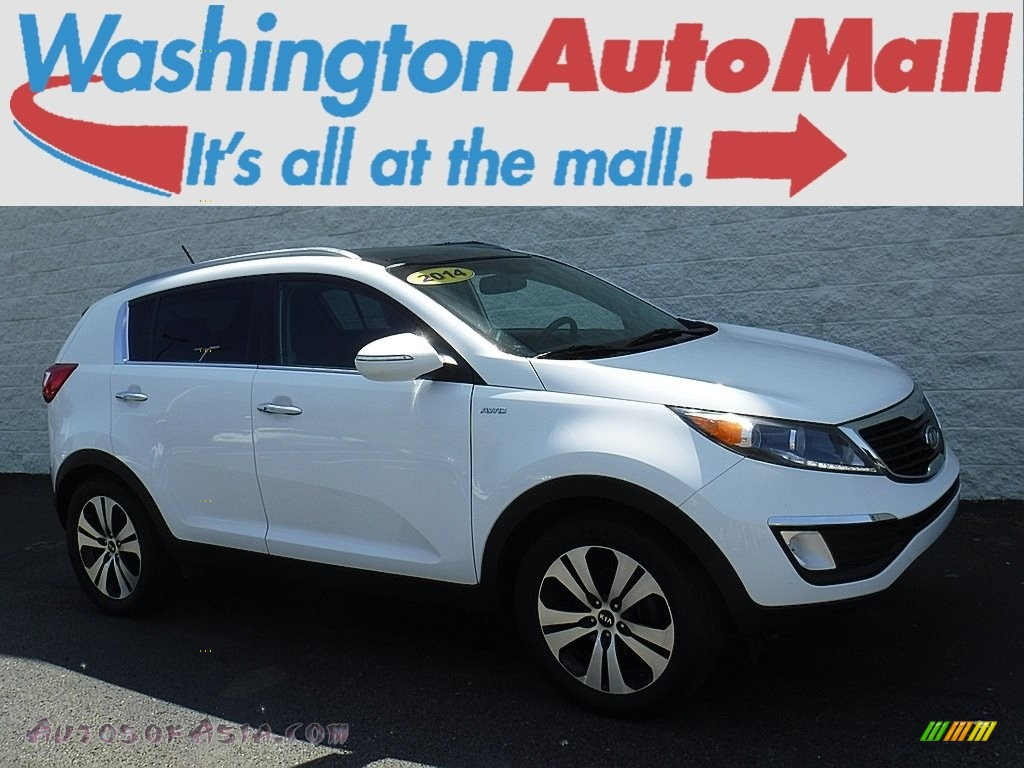 2011 Sportage EX AWD - Clear White / Black photo #1