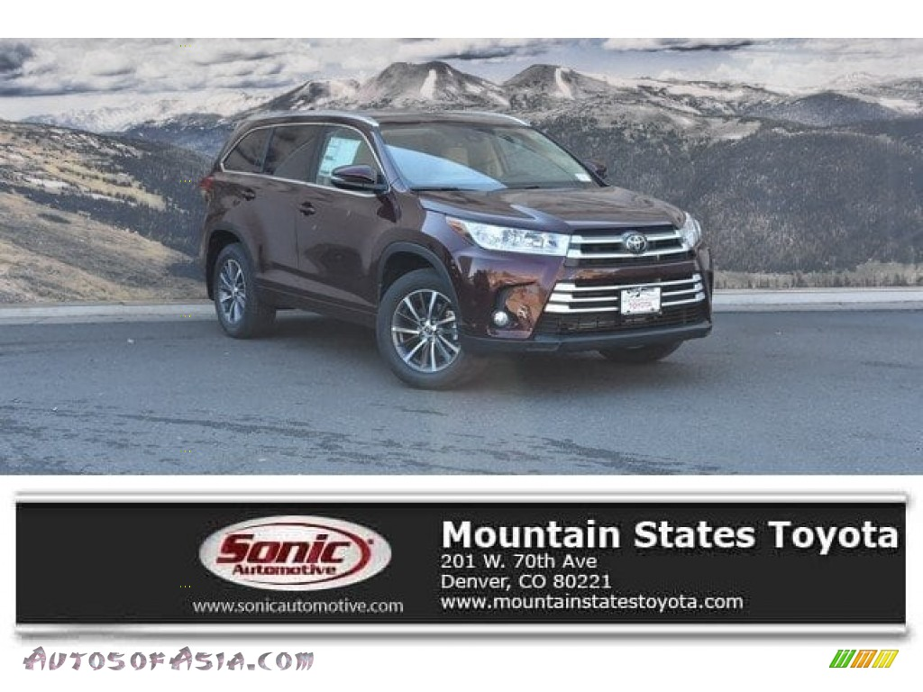 2018 Highlander XLE AWD - Ooh La La Rouge Mica / Almond photo #1