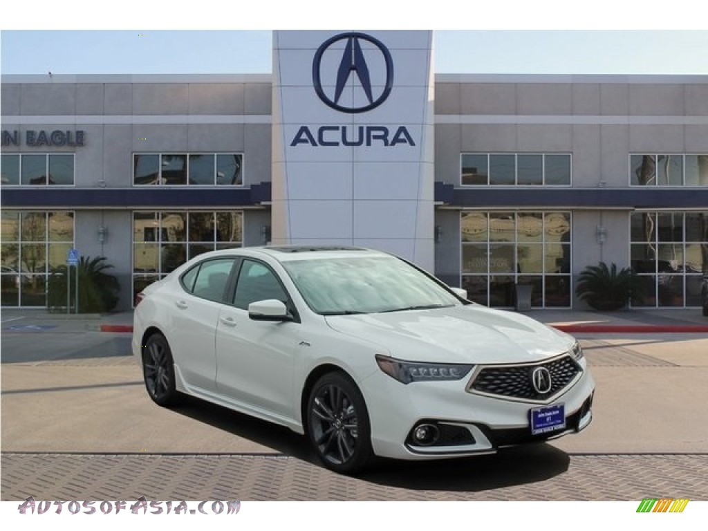 2019 TLX A-Spec Sedan - Platinum White Pearl / Red photo #1