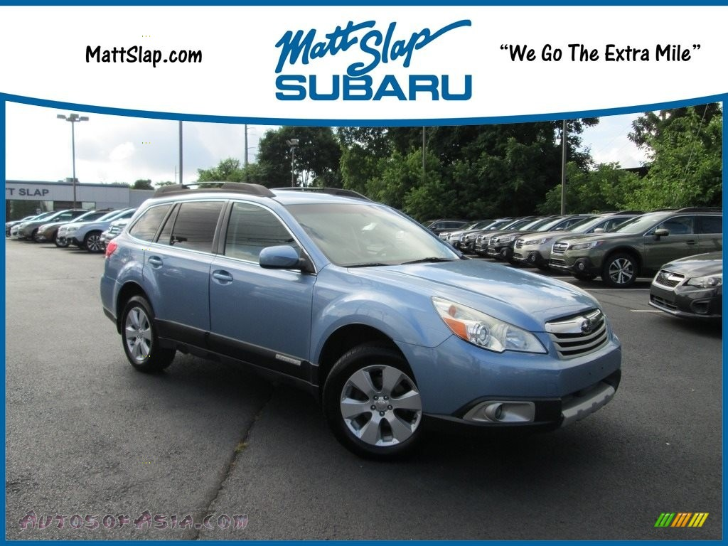 2011 Outback 2.5i Limited Wagon - Sky Blue Metallic / Off Black photo #1