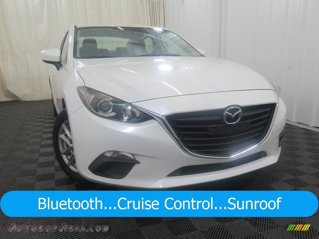 2014 MAZDA3 i Touring 4 Door - Snowflake White Pearl / Black photo #1