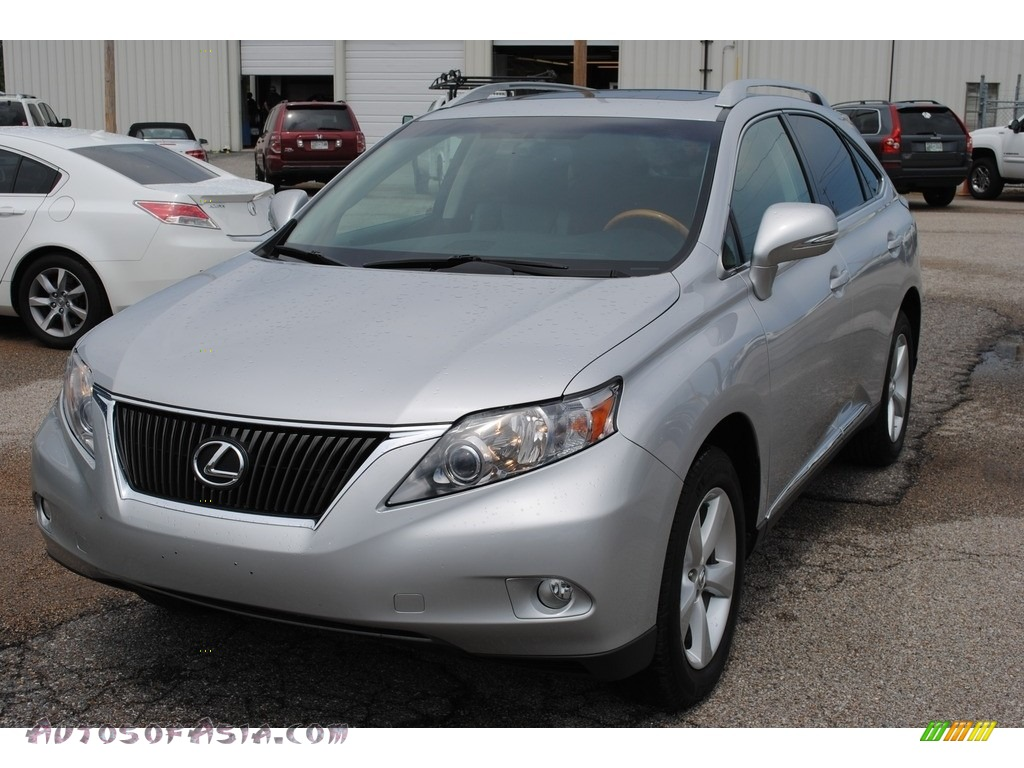 2010 RX 350 AWD - Tungsten Silver Pearl / Light Gray/Espresso Birds-Eye Maple photo #1