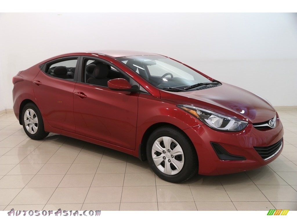 2016 Elantra SE - Red / Gray photo #1