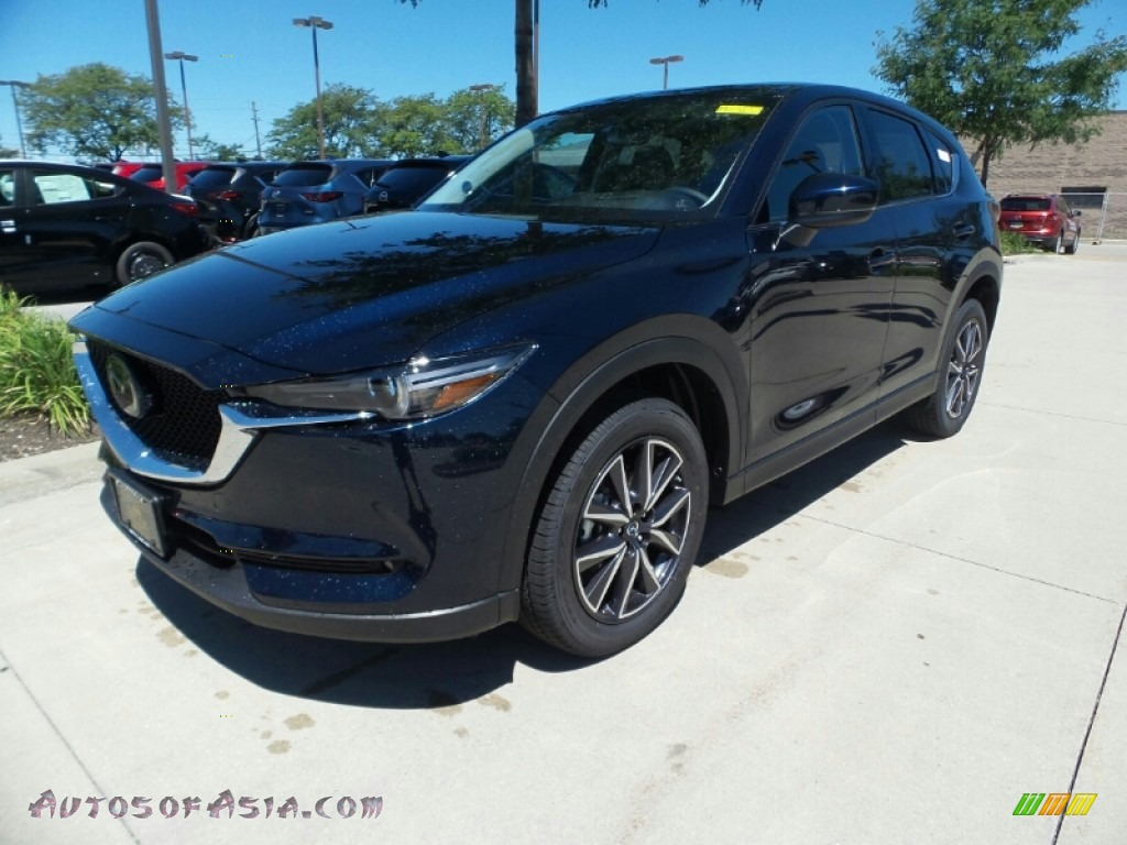 2018 CX-5 Grand Touring AWD - Deep Crystal Blue Mica / Black photo #1