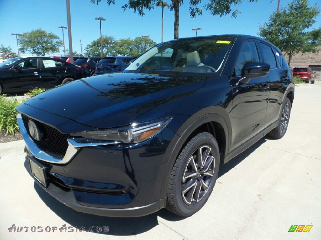 2018 CX-5 Grand Touring AWD - Deep Crystal Blue Mica / Parchment photo #1