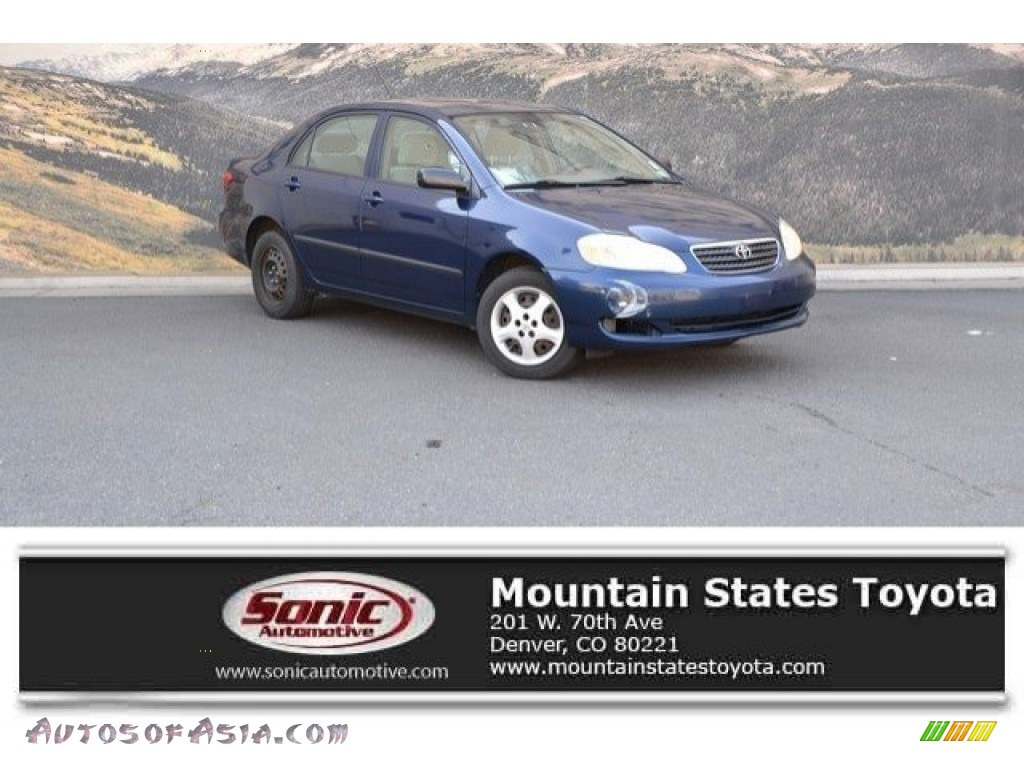2007 Corolla CE - Speedway Blue Metallic / Beige photo #1