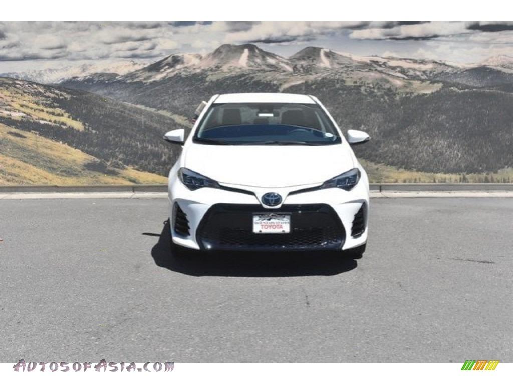 2019 Corolla SE - Super White / Black photo #2