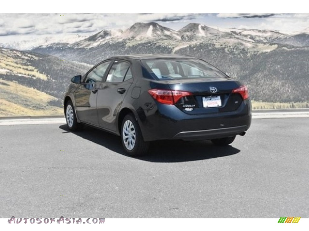 2019 Corolla LE - Black Sand Pearl / Ash/Dark Gray photo #3
