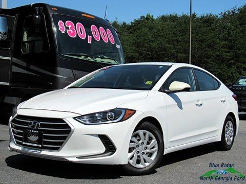 White 2017 Hyundai Elantra SE