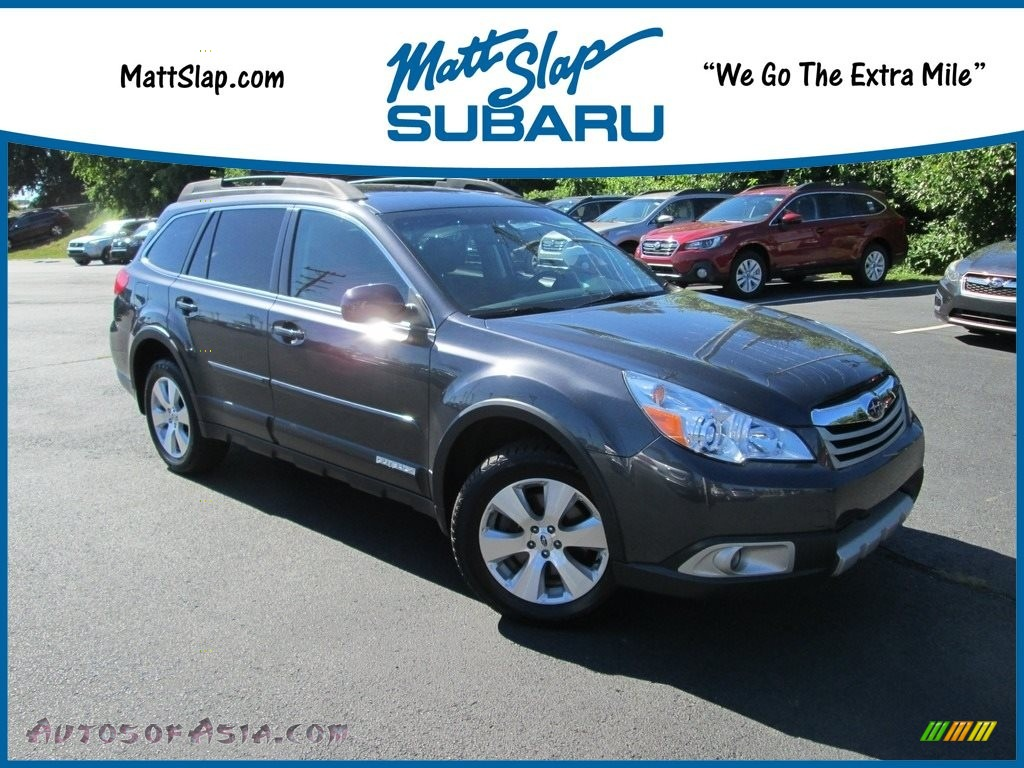2011 Outback 3.6R Limited Wagon - Graphite Gray Metallic / Off Black photo #1