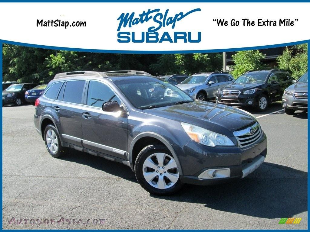 2010 Outback 2.5i Premium Wagon - Graphite Gray Metallic / Off Black photo #1
