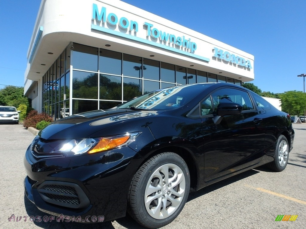 2015 Civic LX Coupe - Crystal Black Pearl / Black photo #1