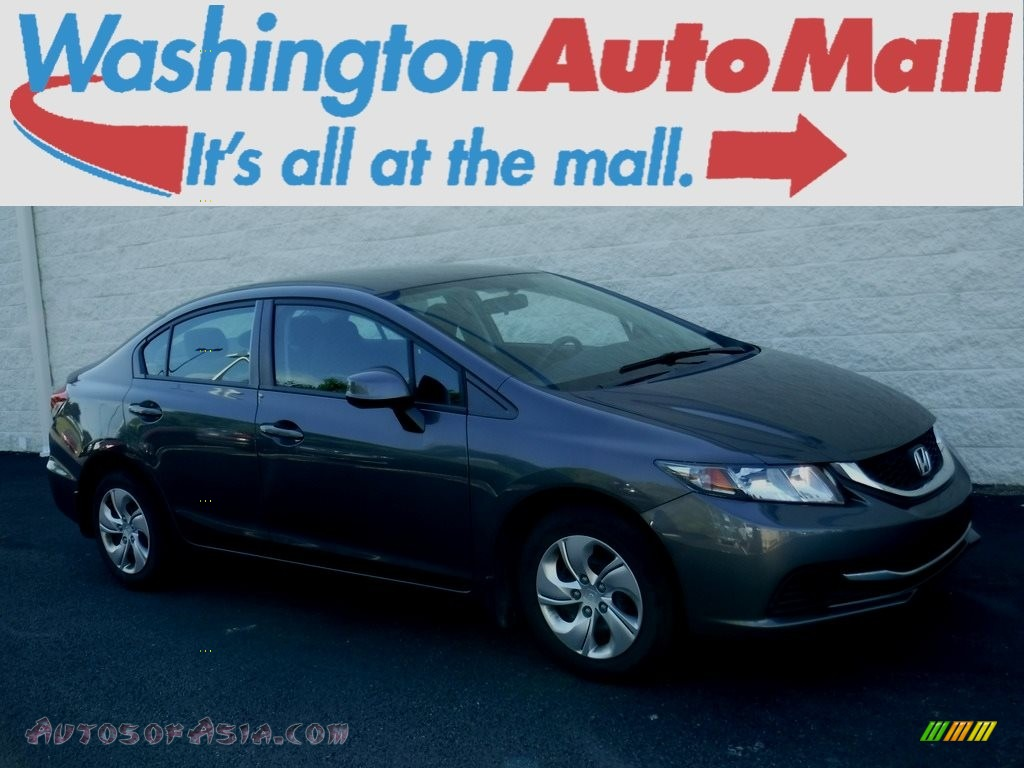 2013 Civic LX Sedan - Polished Metal Metallic / Black photo #1
